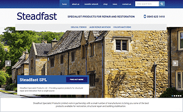 Steadfast Homepage Screenshot