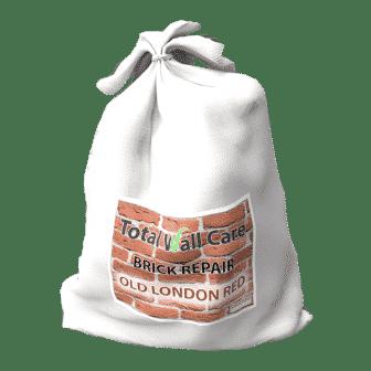 A bag of Total Wall Care Brick Repair Mortar - Old London Red