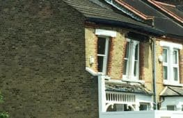Image of house collapsing in Lewisham