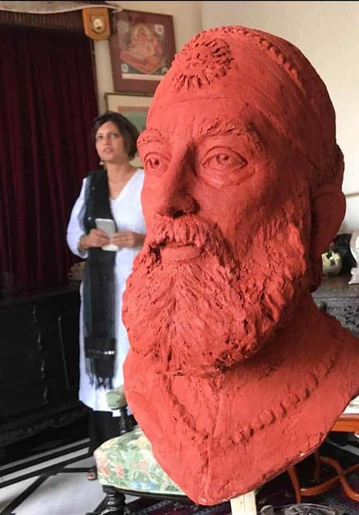 Head carving - Shri Arvind Singh Mewar