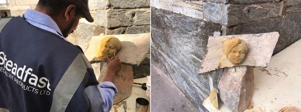 Stone restoration demonstration