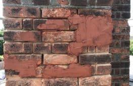Brick Repair Mortar Applied