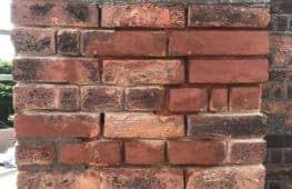During brick repair