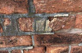 Poorly repaired brick