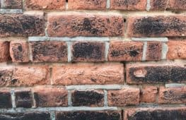 Brick faces eroded
