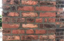 During repointing of bricks