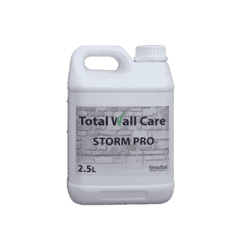 Picture of a 2.5L Jerry Can of Total Wall Care Storm Pro water-repellant protective coating.