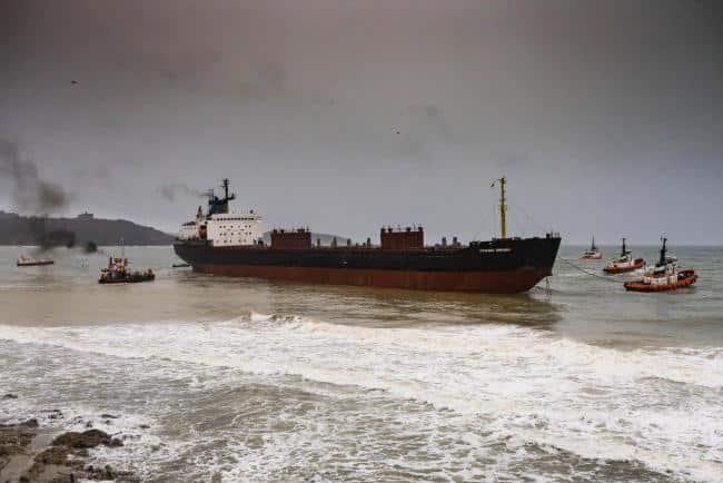 Kuzma Minin run aground