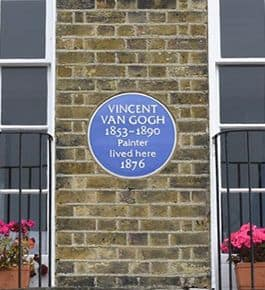 Vincent Van Gogh Plaque on house in Ramsgate