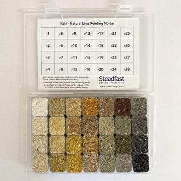 Pointing Mortar Sample Box - Open - p1 - p28 - 800px